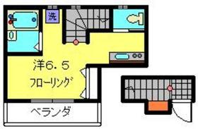 ハイムBridge2階Fの間取り画像