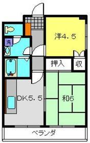クオーレMM5階Fの間取り画像