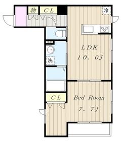 アメニティー相模原市中央5丁目新築アパート2階Fの間取り画像