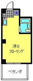 浦島ハイツ3階Fの間取り画像
