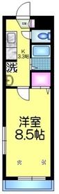 メゾンエクセル2階Fの間取り画像