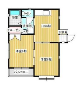 二俣川駅 徒歩13分2階Fの間取り画像