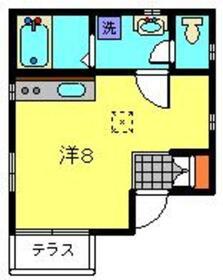 景久ハイム1階Fの間取り画像