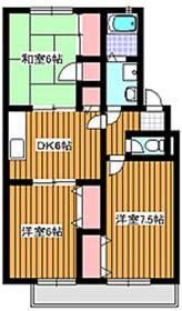 成増駅 徒歩25分2階Fの間取り画像