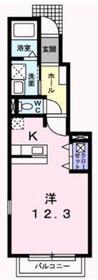 コスモス1階Fの間取り画像