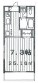 メゾン アレックス2階Fの間取り画像