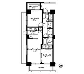 パークアクシス文京ステージ2階Fの間取り画像