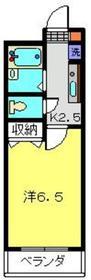 メゾンドシャペリエ2階Fの間取り画像