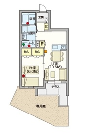 (シニア限定)ヘーベルVillage 練馬ASAHIDAI1階Fの間取り画像