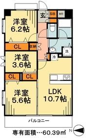 オーキッドノーザン4階Fの間取り画像