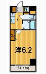 エルミタージュ横濱弘明寺2階Fの間取り画像