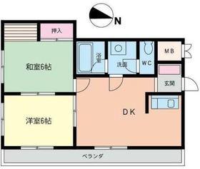 オークⅢマンション8階Fの間取り画像