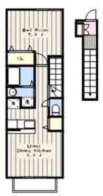 カーサ・リブラⅡ2階Fの間取り画像