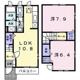 サンモール1階Fの間取り画像