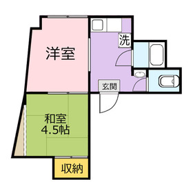 国畜アパート3階Fの間取り画像