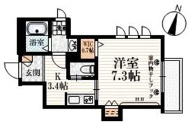 カーサ・カリン3階Fの間取り画像
