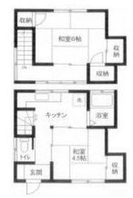 岡田荘2階Fの間取り画像