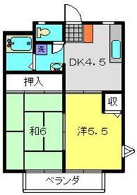 ドエル・アルス神大寺21階Fの間取り画像