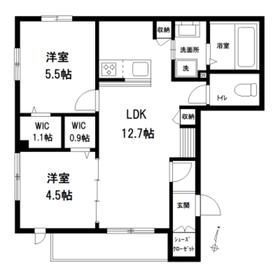仮称スリーウィステリア・サウス棟2階Fの間取り画像
