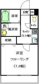 メゾンクリスタル壱番館2階Fの間取り画像