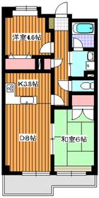 プレミール赤塚21階Fの間取り画像