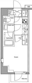 プレミアムキューブ横浜DEUX4階Fの間取り画像