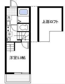 プラージュ鶴見2階Fの間取り画像