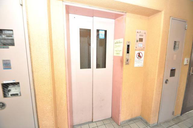 グランピア布施 嬉しい事にエレベーターがあります。重い荷物を持っていても安心