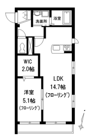 ヤマウロコWEST2階Fの間取り画像