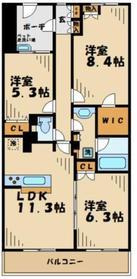 はるひ野駅 徒歩2分2階Fの間取り画像