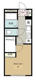 レオパレスコンパートメントⅡ2階Fの間取り画像