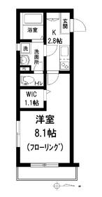 メゾン富士見1階Fの間取り画像
