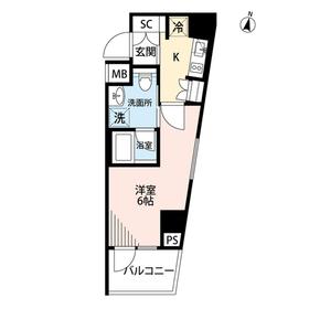 プレール・ドゥーク横濱紅葉坂5階Fの間取り画像