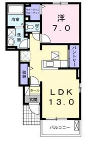 ボヌールフォレスト1階Fの間取り画像