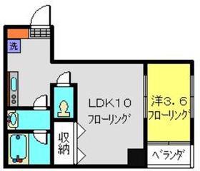 コルディア横濱サウス2階Fの間取り画像