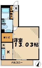 ウィステリア(上柚木)2階Fの間取り画像