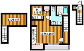 下赤塚駅 徒歩13分2階Fの間取り画像