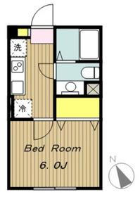 アパートメントK1階Fの間取り画像