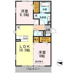 中田駅 徒歩21分3階Fの間取り画像