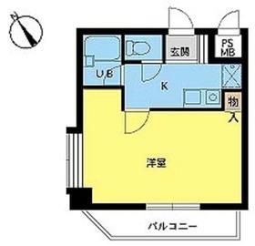 スカイコート新宿第82階Fの間取り画像