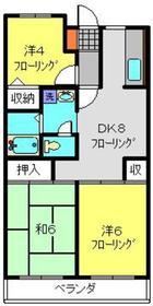 アミーコート高田2階Fの間取り画像