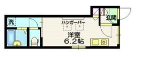 リブラ乃木坂1階Fの間取り画像