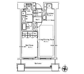 パークアクシス御茶ノ水ステージ5階Fの間取り画像