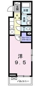 ラフレシールミユ3階Fの間取り画像