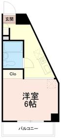 クレスト多摩川2階Fの間取り画像