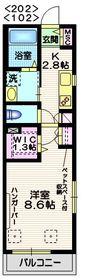 メゾンナカムラ2階Fの間取り画像