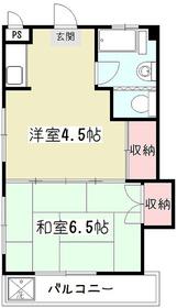 第一セイケンマンション1階Fの間取り画像