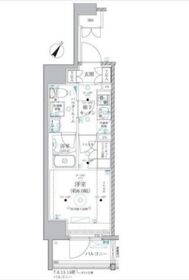 ベルグレード川崎AZ14階Fの間取り画像