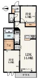 カーサ・ハナミズキ1階Fの間取り画像