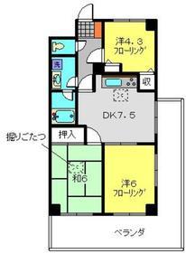 ライオンズマンション上永谷第21階Fの間取り画像